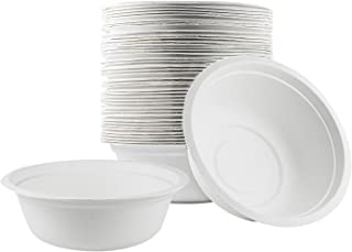 Houseables Disposable Bowls, Compostable Bowl, 16 Ounce, 500 Pack, Biodegradable Dishware, Eco-Friendly Bagasse, Fiber, Natural, Sugarcane Material, Microwaveable, For Soup, Salad, Hot Food