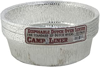 """CampLiner Dutch Oven Liners, 12 Pack of 12"""" 6 Quart Disposable Liners - No More Cleaning or Seasoning. Fits Lodge, Camp Ch..."""