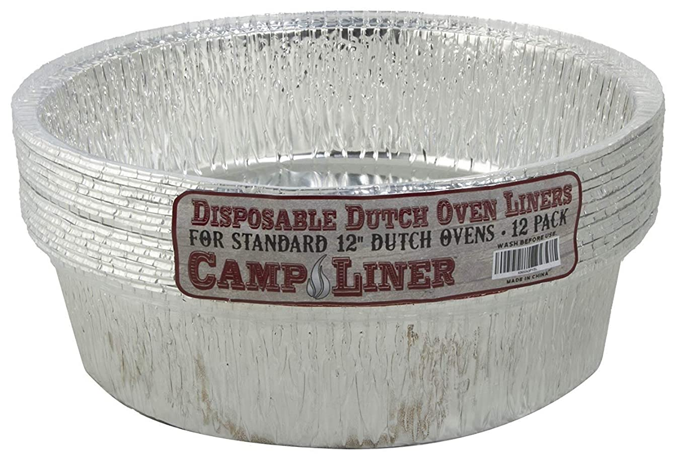 """Campliner Disposable Foil Dutch Oven Liner, 12 Pack 12"""" 6Q liners, No more Cleaning or seasoning, perfect accessory. Lodge, Camp Chef"""