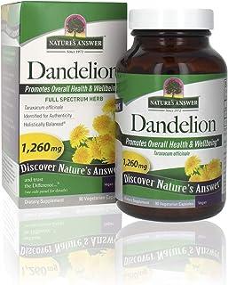 Nature's Answer Dandelion Root Vegetarian Capsules, 90-Count