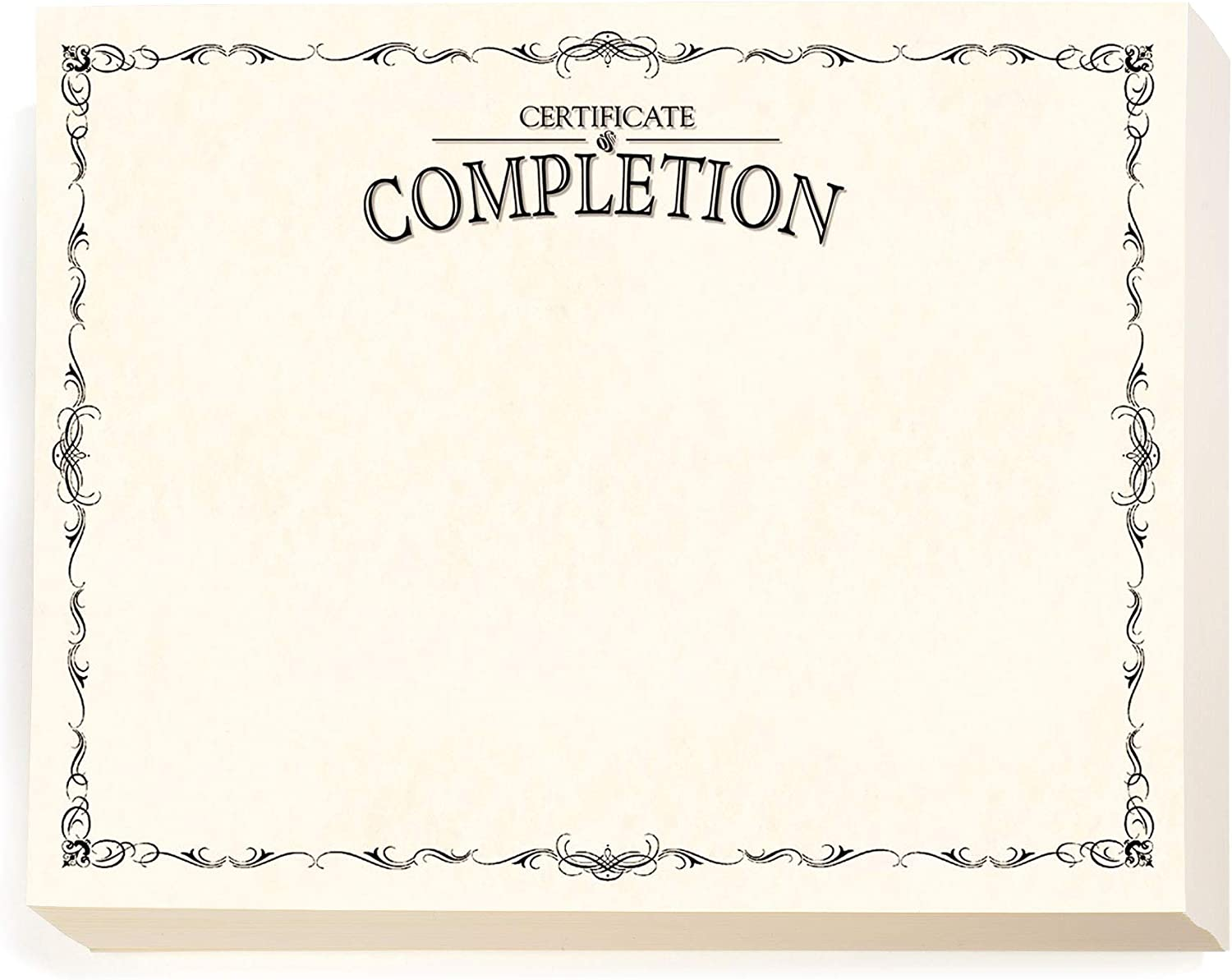 PaperDirect Certificate of High material Completion Finally resale start Delicate Border 8 Black