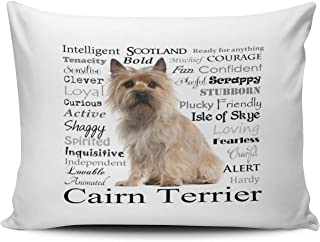 WULIHUA Pillow Covers Cairn Terrier Traits Sofa Modern Pillow Case Decorative Throw Pillow Cases One Side Printed Queen 20x30 Inches