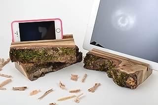 Set Of 3 Homemade Designer Desktop Wooden Tablet Holders In Eco Style