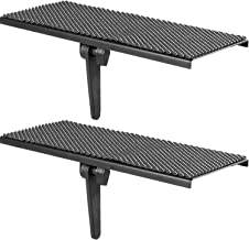 WALI TV Top Shelf 12 inch Flat Panel Mount for Streaming Devices, Media Boxes, Speakers and Home Decor (TSH001-2), 2 Packs, Black