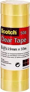 Scotch Transparant plakband 508-8 rollen - 19 mm x 33 m - doorzichtige multifunctionele band voor school, thuis en kantoor
