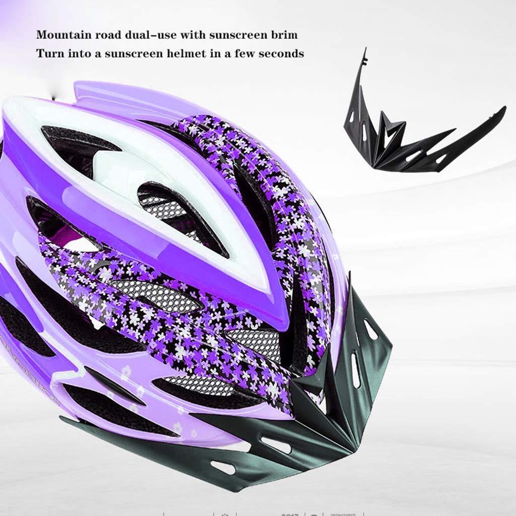 TKXZM Casco Trek Cascos De Bicicleta Casco De Ciclismo For Mujer Bicicleta De Montaña Casco De Carretera Protección De Seguridad Moldeo Integrado Casco De Ciclismo Transpirable For Hombre Mujer: Amazon.es: Hogar