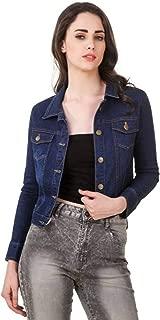 G.S.A ENTERPRISES Women's Full Sleeve Dark Denim Jacket
