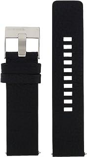 Diesel LB-DZ1766 - Cinturino di ricambio per orologio, in pelle, 24 mm, colore: Nero