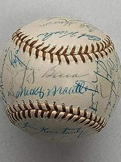 Mickey Mantle Autographed Signed 1955 New York Yankees Signed Baseball Yogi Berra JSA