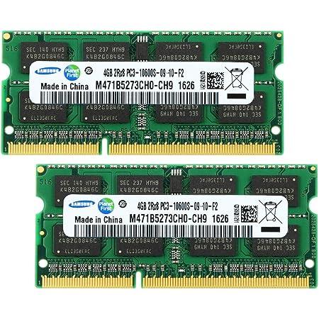 サムスン ノートPC用メモリ PC3-10600(DDR3-1333) SO-DIMM (4GB x 2) [並行輸入]