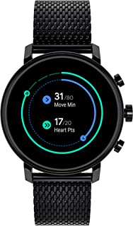 Connect 2.0 Unisex Powered with Wear OS by Google Stainless Steel and Ionic Plated Black Steel Smartwatch, Color: Black (Model: 3660034)