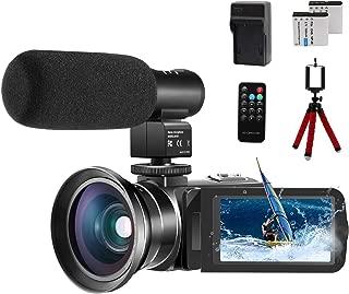 Video Camera 1080P Camcorder CofunKool 24.0MP Vlogging Camera for YouTube, 270° Flipping 3.0