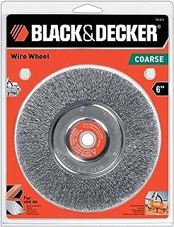 Black & Decker 70-613 Crimped Wire Wheel Coarse Bench Grinder, 6-Inch