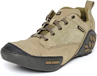 Woodland ProPlanet Men Khaki Solid Nubuck Leather Mid-Top Derbys Casual Shoes -10 UK