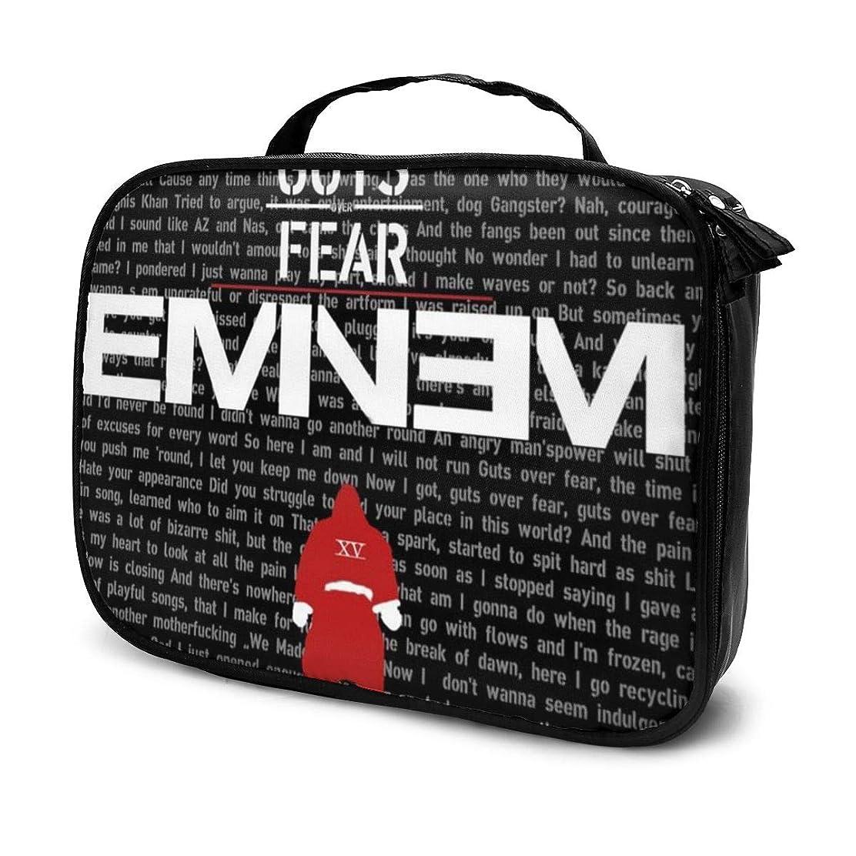 広大な膨らみ申し立て化粧ポーチ Eminem 女性化粧品バッグ ビューティー メイク道具 フェイスケアツール 化粧ポーチメイクボックス ホーム、旅行、ショッピング、ショッピング