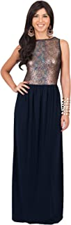 KOH KOH Womens Long Sleeveless Party Cocktail Special Evening Gown Maxi Dress