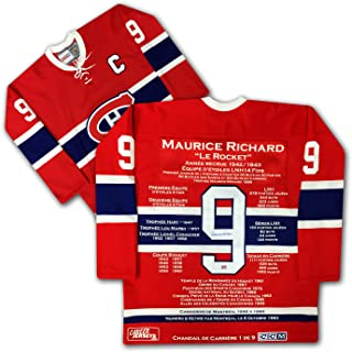 Maurice Richard French Edition Career Jersey 1 of 9 - Autographed, MTL Canadiens