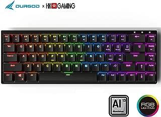 杜伽Durgod x HK Hades 65% ゲーミングキーボード 、 アルミフレームの堅固な、 usbタイプc、 英語(US)配列 (Cherry Red, Black)