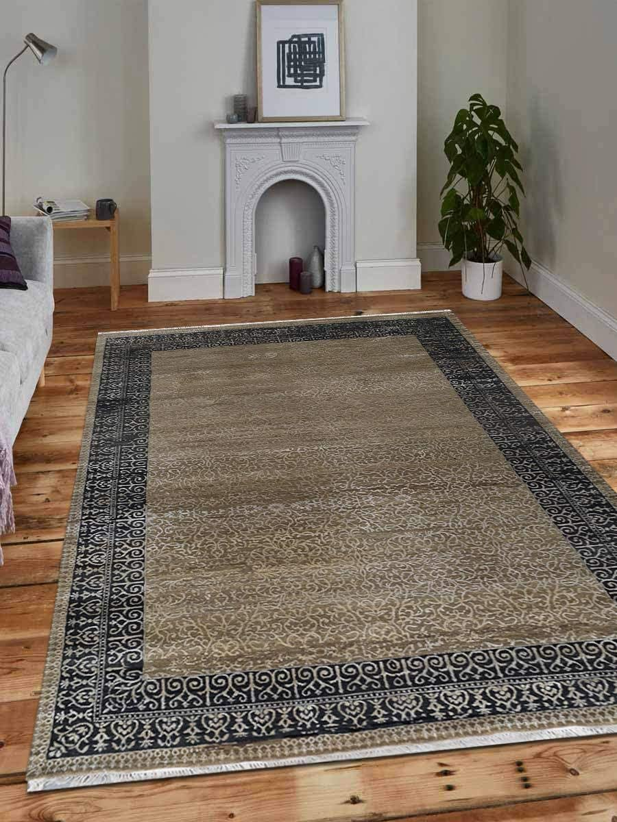 Rugsotic Carpets Hand Knotted Persian Wool 8'x8' Round and Silk New color Credence