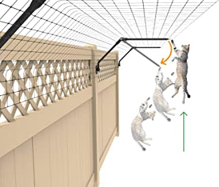 Purrfect Fence Existing Fence Conversion System - Cat Proof Fence Topper