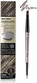 Music Flower Eyebrow pencil - Eyebrow pen - Brow Tint brush Brow Filler (Light Coffee/Light Brown)