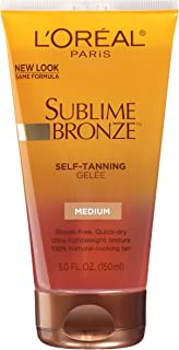 L'Oreal Dermo-Expertise Sublime Bronze Self-Tanning Gelee, Medium-Natural, 5 fl oz (150 ml)
