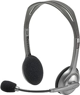 Logitech H110 Stereo Headset, Black & Grey
