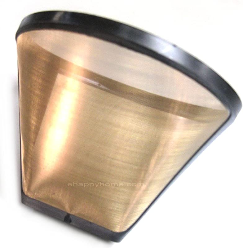 Gold Tone 2 Permanent Cone Coffee Filter Brown