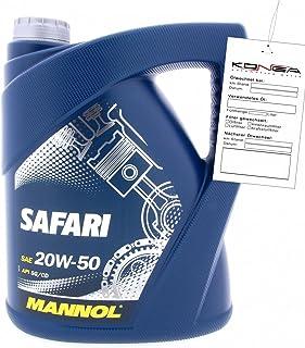 MANNOL Safari 20W-50 API SN/CH Motorenöl, 5 Liter