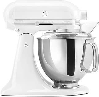 KitchenAid KSM150PSWW Artisan Series 5-Qt. Stand Mixer with Pouring Shield - White On White
