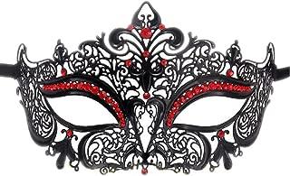Rehoty Womens Masquerade Mask Metal Rhinestone Venetian Halloween Christmas Party Evening Prom Mask