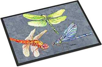 "Caroline's Treasures Dragonfly Times Three Indoor or Outdoor Doormat, 18"" x 27"", Multicolor"