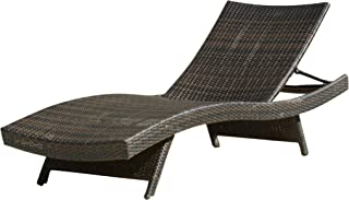 Christopher Knight Home 234420 Salem Chaise Lounge Chair, Multi-Brown