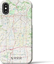 【奈良】地図柄iPhoneケース(バックカバータイプ・ナチュラル)iPhone XS/X 用 <全国300以上の品揃え> シンプル おしゃれ 大人 個性的 耐衝撃素材のiPhoneカバー(アイフォンケース アイフォンカバー スマホケース スマホカバー)