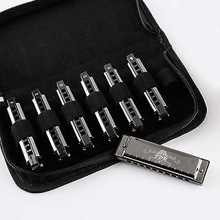 مجموعه JDR Blues Harmonica (مجموعه 7 قطعه با محافظ EVA) , 10 سوراخ هارمونیکا کلید C ، D ، E ، F ، G ، A