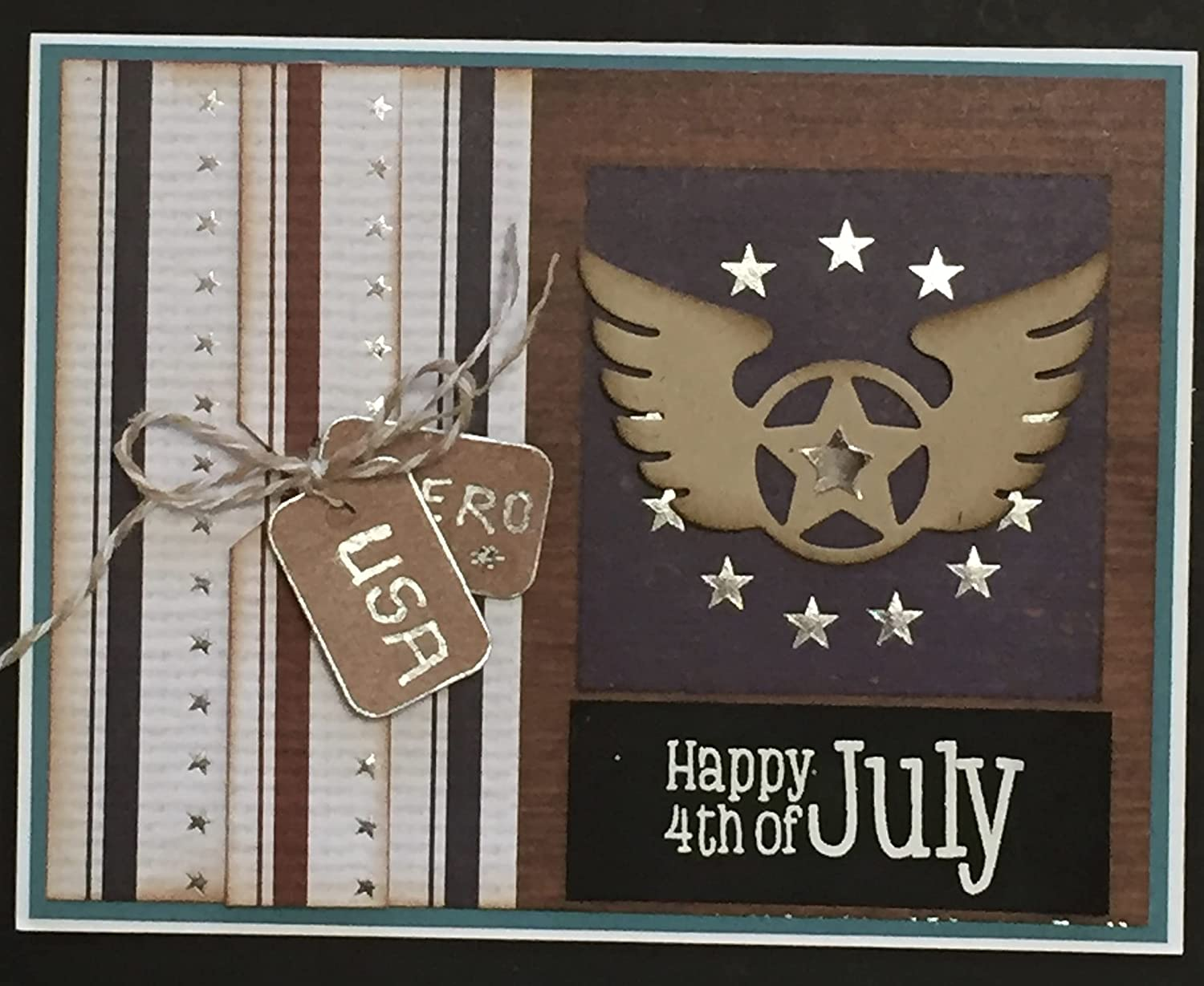 INDEPENDENCE DAY - Dog Philadelphia Mall Tags card by WINGS Handmade Reservation DEE