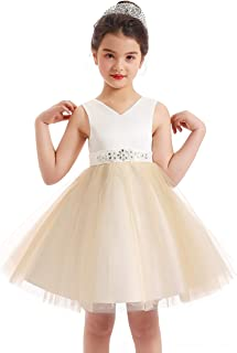 MIACABELL Flower Girls Dresses Princess Pageant Dress Kids Tutu Tulle Wedding Party Prom Ball Gowns