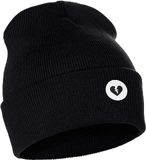 I&W Classic Winter Cuffed Beanie Knit Hat Love or Broken Heart Logo