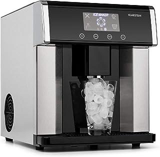 KLARSTEIN Ice Age - Machine à glaçons, 15 kg de glace/jour, Ecran LCD intuitif, 3 tailles de glaçons, Réservoir d'eau de 3...