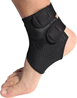 Magnetic Therapy Thermal Self-Heating Ankle Pad Belt Ankle Brace Support (Black)