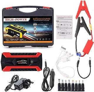 rot /& schwarz MarinoBIRD Multifunktionale 68800mAH 12V 4 USB tragbare Mini-Auto-Starthilfe Power Bank f/ür Notstart Aufladbare Batterie