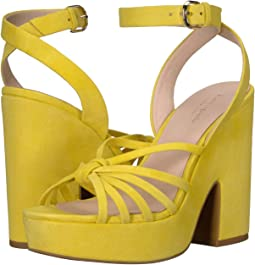 Vibrant Canary Suede