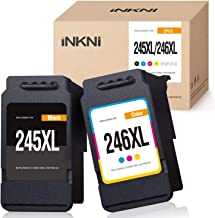 INKNI Remanufactured Ink Cartridge Replacement for Canon 245XL 246XL Ink for Pixma MX492 MX490 MG2420 MG2520 MG2522 MG2920 MG2922 MG3022 MG3029 iP2820 TR4520 TS3122 TS3120 TS202 (Black, Tri-Color)