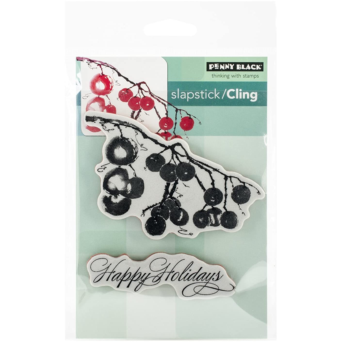 Penny Black 40-346 Decorative Rubber Stamps, Berry Merry Christmas