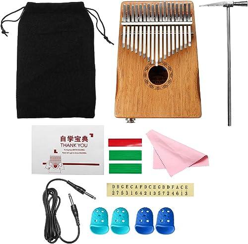 LaDicha 17 Tasten Eq Mahogany Kalimba Thumb Finger Piano Mit Bag Set