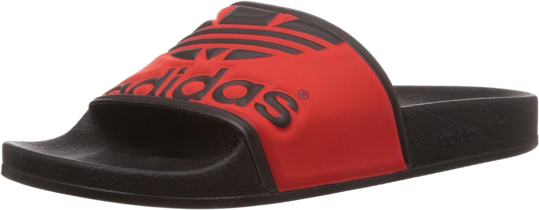 Adidas Performance Adilette Trefoil, Unisex Adults Flip Flops & Pool shoes Red