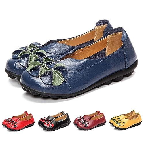 fbeea9af82c1e Women's Flat Leather Shoes: Amazon.co.uk
