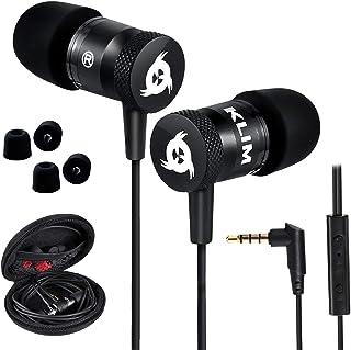 KLIM Fusion - Auriculares con micrófono para móvil + Garantía 5 años + Innovadora Espuma de Memoria + Jack 3,5 mm + Compat...