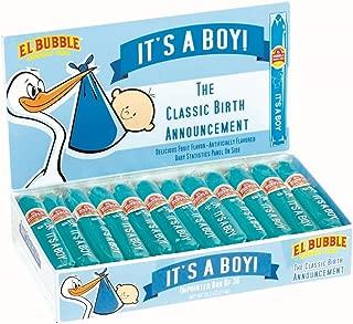 Dubble Bubble It's a Boy! Blue Bubble Gum Gender Reveal Cigars (Pack of 36)