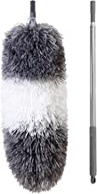 BOOMJOY Extendable Microfiber Duster,Telescoping Stainless Steel Pole,Detachable Bendable Head,Washable,96.5""